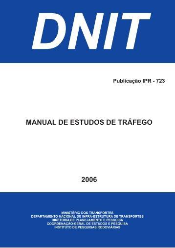 Manual de Estudo de Tráfego - IPR - Dnit
