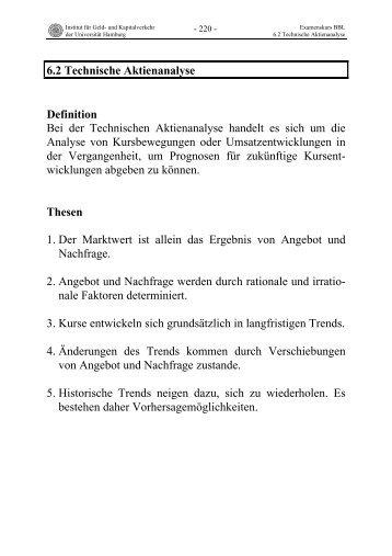 Technische Aktienanalyse - Universität Hamburg