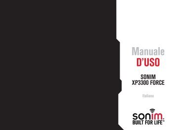 XP3300 FORCE Manuale d'uso pdf - Manto.ch