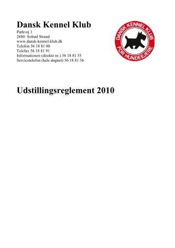 DKK's udstillingsregler 2010 - Myndeklubben