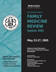 Family Medicine Review - University of Minnesota Continuing ...