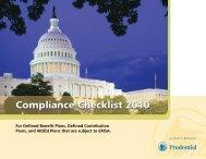 Compliance Checklist 2010 - Prudential