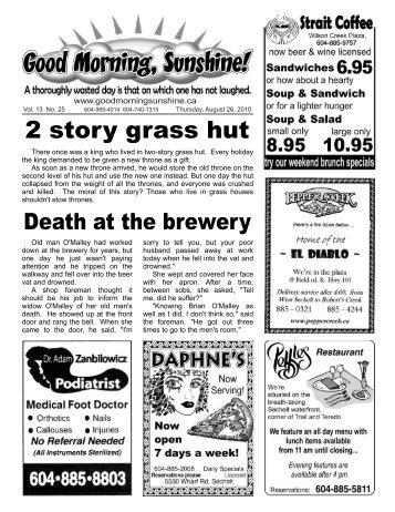 2 story grass hut - Good Morning Sunshine.ca