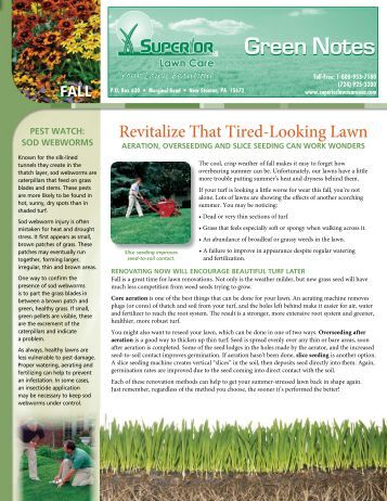 Green Notes - Superior Lawn Care