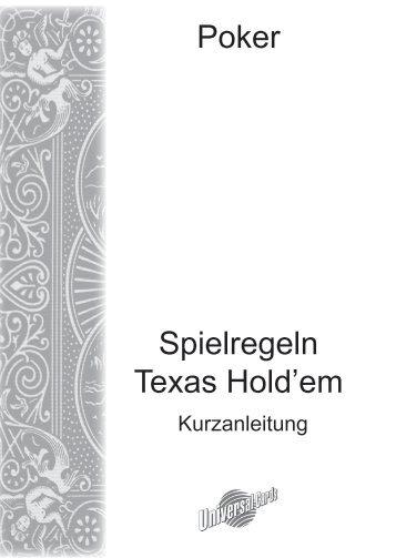 Spielregeln texas holdem poker pdf