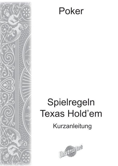 Spielregeln Texas Holdem