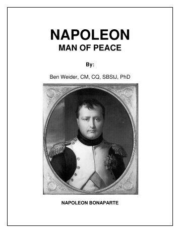 Napoleon Man of Peace (3.5 megs) - International Napoleonic Society