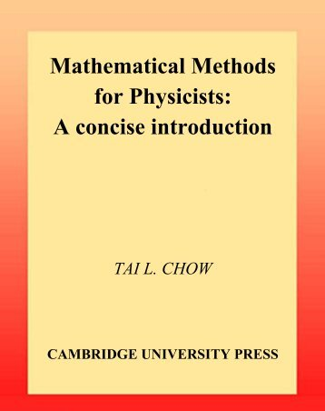 Mathematical Methods for Physicists: A concise introduction - Site Map