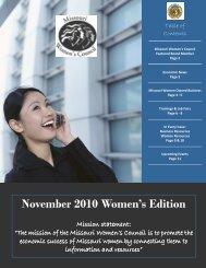 November 2010 - Missouri Women's Council