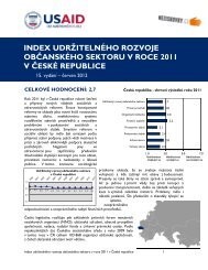 index udržitelného rozvoje občanského sektoru v roce ... - Neziskovky