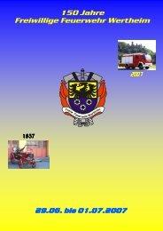 150 Jahre Freiwillige Feuerwehr Wertheim