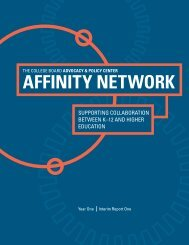 Affinity Network Year One - College Board Advocacy & Policy Center