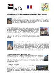A travers le centre historique de Rottenburg sur le Neckar - WTG ...