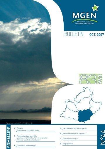BULLETIN OCT. 2007 - MGEN