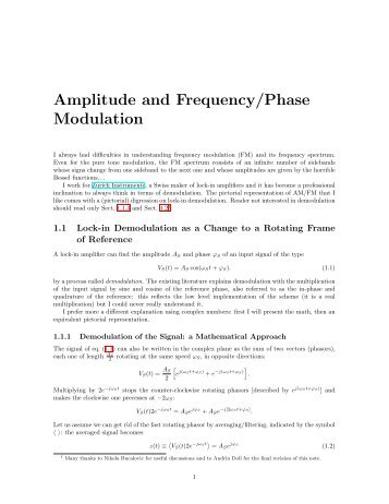 Amplitude and Frequency/Phase Modulation - Zurich Instruments