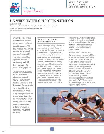 U.S. Whey Proteins in Sports Nutrition - Results Direct