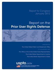 Report on the Prior User Rights Defense - United States Patent and ...