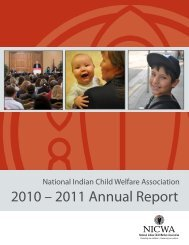 2011 Annual Report - National Indian Child Welfare Association