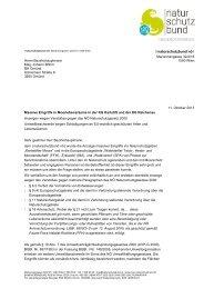Anzeige wegen Verstoßes gegen das NÖ Naturschutzgesetz und ...