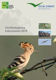 Ornithologisches Programm 2014 - Naturpark Pfyn-Finges