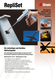 Download PDF RepliSet/RepliFix Brochure (1 MB) - Struers