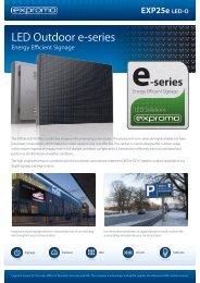 LED Outdoor e-series - ProShop Europe
