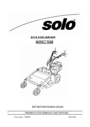 schlegelmäher mod. 526m - SOLO Kleinmotoren GmbH