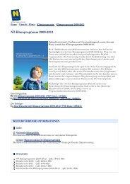 NÖ Klimaprogramm 2009-2012