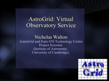 AstroGrid: Virtual Observatory Service