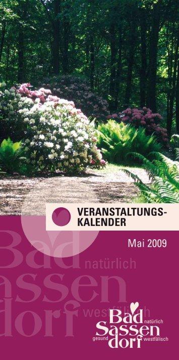 Veranstaltungs- kalender Mai 2009 - Tagungs