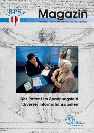 Der Patient im Spannungsfeld diverser Informationsquellen