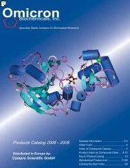 Products Catalog 20 06 - 2008 Distributed in Europe by