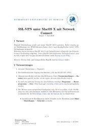 SSL-VPN unter MacOS X mit Network Connect