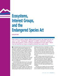 Ecosystems, Interest Groups, and the Endangered Species Act