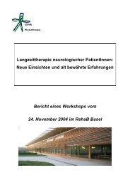 Langzeittherapie neurologischer PatientInnen: Neue ... - IGPTR
