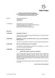 Minutes of the Audit Committee Meeting held on ... - Trafford College