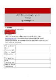 og efternavn E-mail Postnummer og by Brugernavn til profil ...
