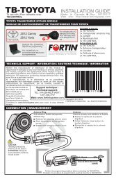 TB-TOYOTA INSTALLATION GUIDE - Fortin Electronic Systems