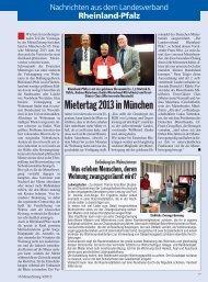 Mietertag 2013 in München - Deutscher Mieterbund