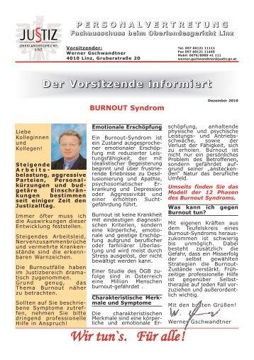 BURNOUT Syndrom - ZA Justiz