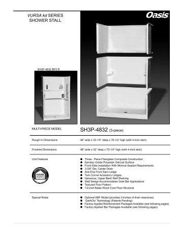 SH3P-4832 (3-piece) - Oasis Bath