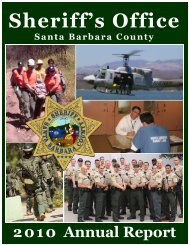2010 Annual Report - Santa Barbara County Sheriff's Department