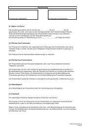 Arbeitsvertrag Weiterbildungsassisten