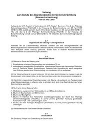 Baumschutzsatzung - VG Oberes Geratal