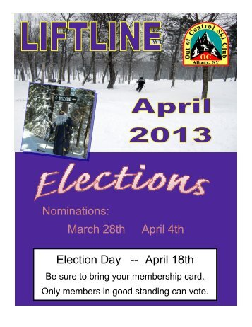 April 13 - Out of Control Ski Club