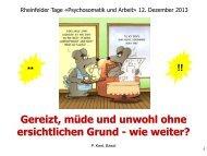 Vortrag Professor Keel - Klinik Schützen Rheinfelden