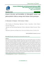 Genetic diversity and heritability of chlorophyll content and photosynthetic indexes among some Iranian wheat genotypes