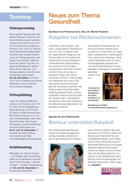 20 Interview Rosa Schleife Vorsorge rettet ... - Vinzenz Gruppe