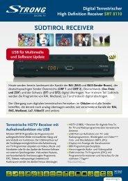 SÜDTIROL RECEIVER - STRONG Digital TV