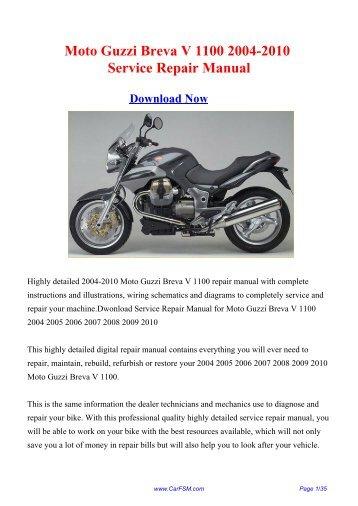 download moto guzzi breva v1100 v 1100 motoguzzi service repair workshop manual